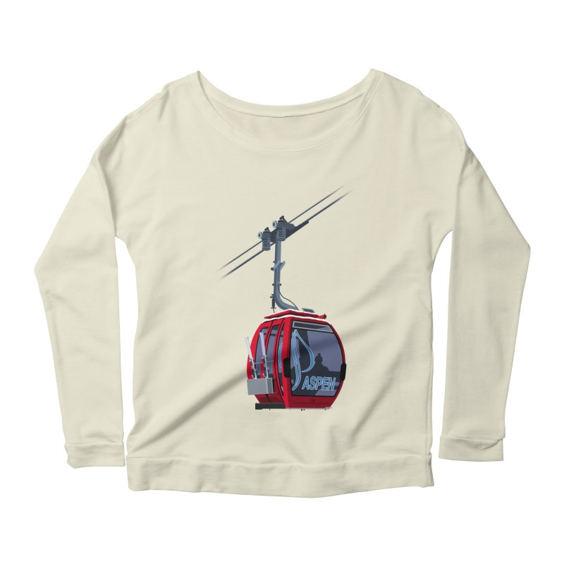 Aspen Ski Women's Scoop Neck Longsleeve T-Shirt by steveash's Artist Shop