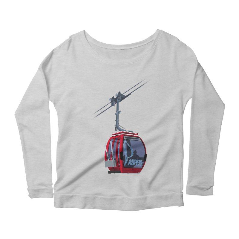 Aspen Ski Women's Scoop Neck Longsleeve T-Shirt by steveash's Artist Shop