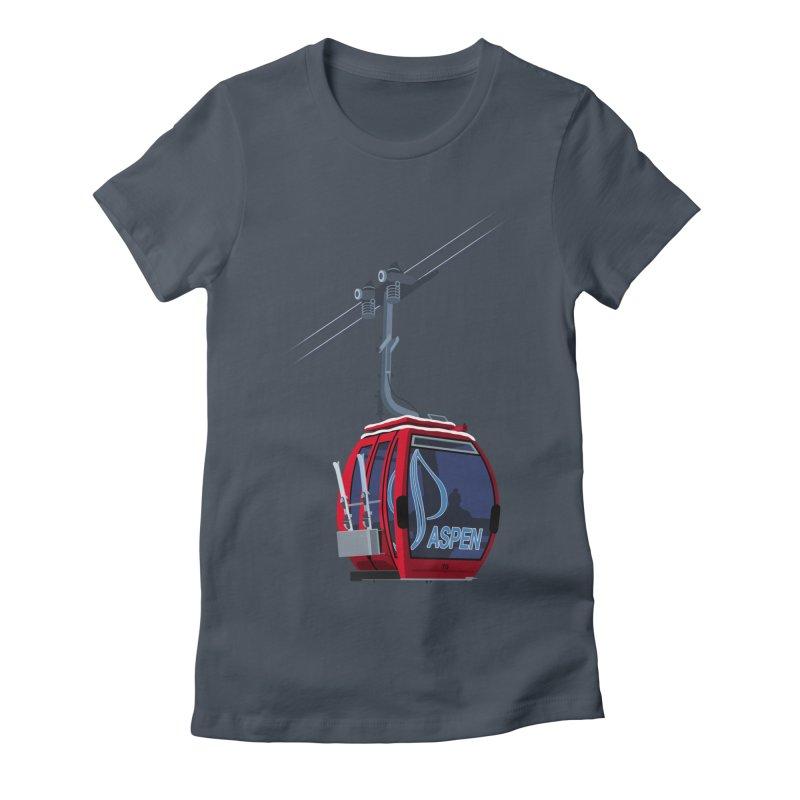 Aspen Ski Women's T-Shirt by steveash's Artist Shop