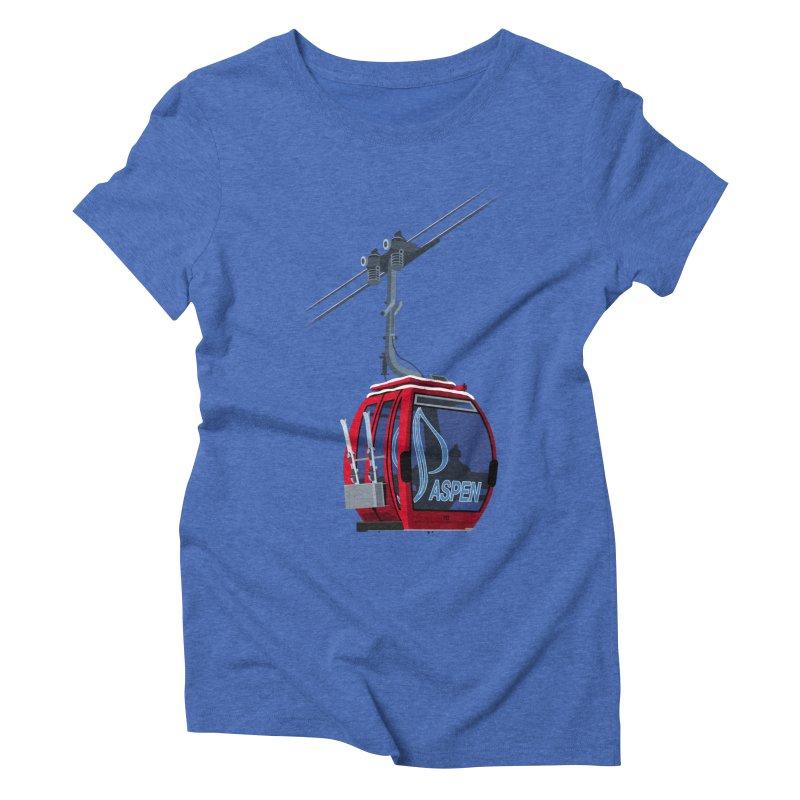 Aspen Ski Women's Triblend T-Shirt by steveash's Artist Shop