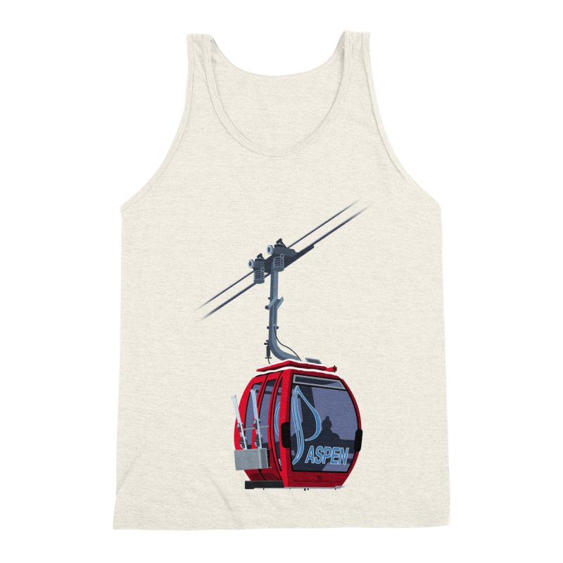 Aspen Ski Men's Triblend Tank by steveash's Artist Shop