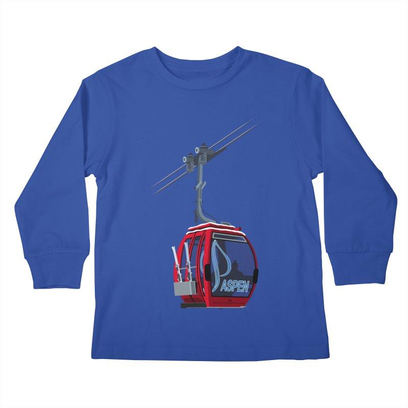 Aspen Ski Kids Longsleeve T-Shirt by steveash's Artist Shop