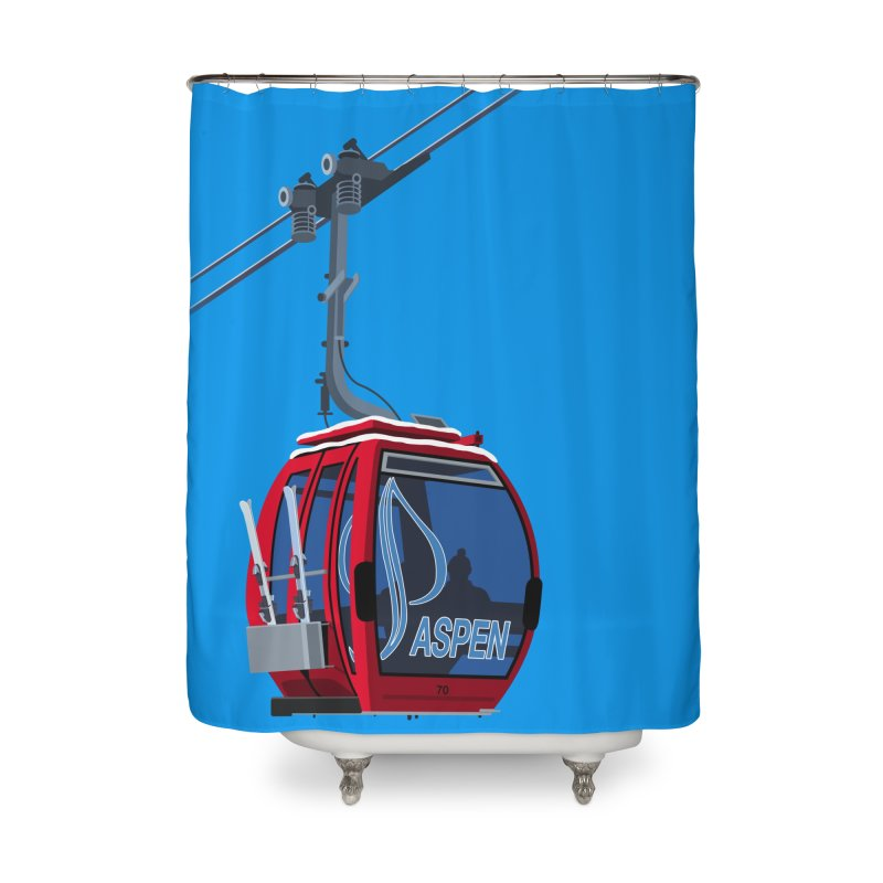 Aspen Ski Home Shower Curtain by steveash's Artist Shop
