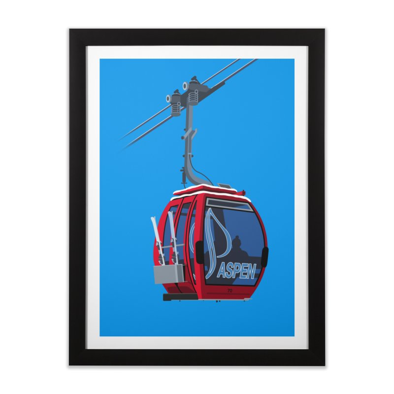 Aspen Ski Home Framed Fine Art Print by steveash's Artist Shop