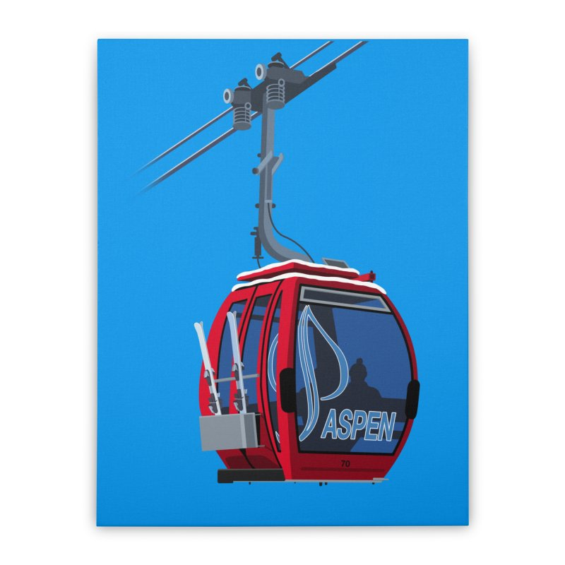 Aspen Ski Home Stretched Canvas by steveash's Artist Shop