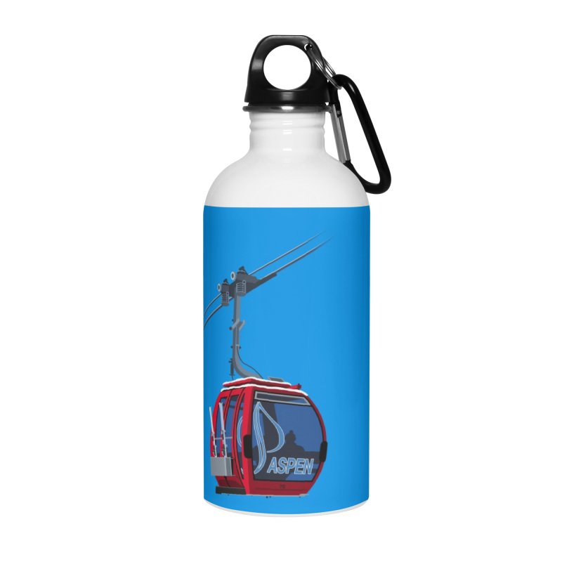 Aspen Ski Accessories Water Bottle by steveash's Artist Shop
