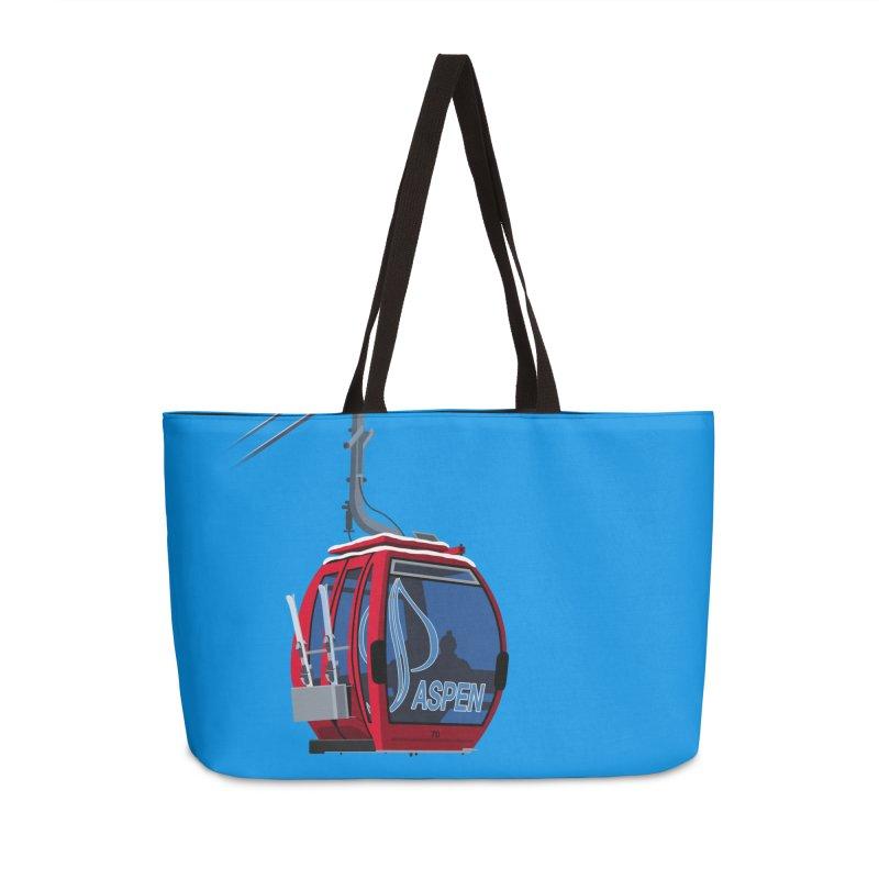 Aspen Ski Accessories Weekender Bag Bag by steveash's Artist Shop