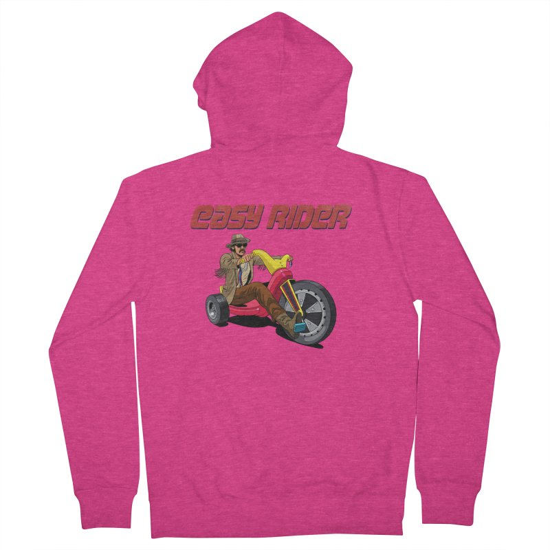 Easy Rider Women's French Terry Zip-Up Hoody by steveash's Artist Shop