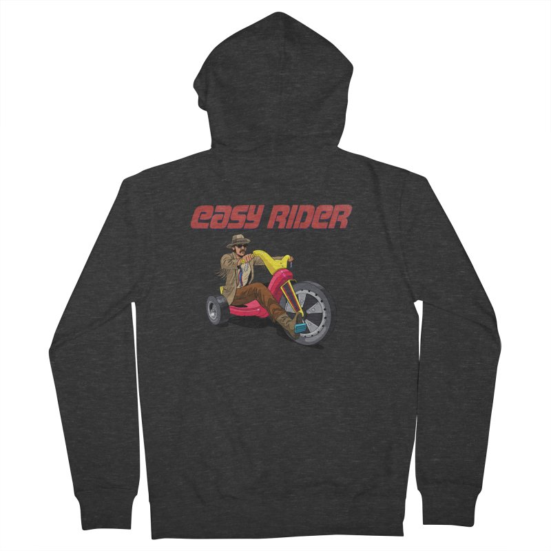 Easy Rider Men's French Terry Zip-Up Hoody by steveash's Artist Shop
