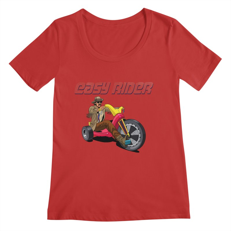 Easy Rider Women's Regular Scoop Neck by steveash's Artist Shop