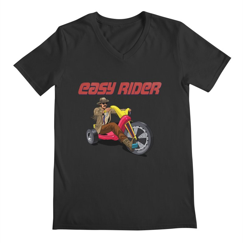 Easy Rider Men's V-Neck by steveash's Artist Shop