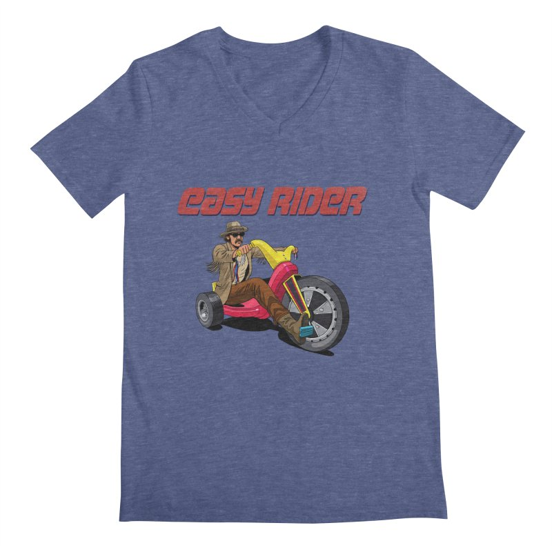 Easy Rider Men's Regular V-Neck by steveash's Artist Shop