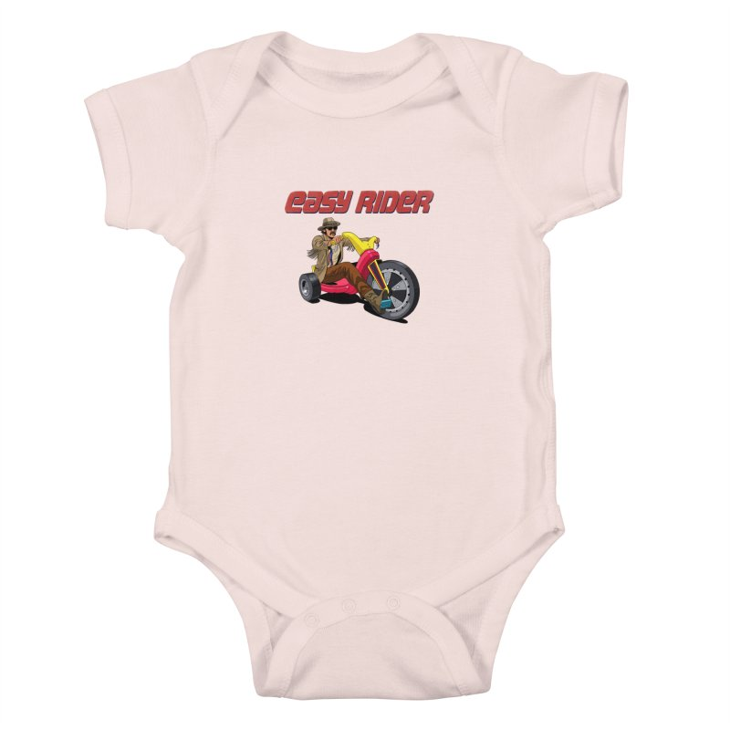 Easy Rider Kids Baby Bodysuit by steveash's Artist Shop