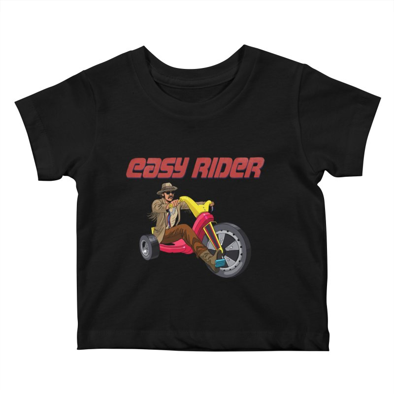 Easy Rider Kids Baby T-Shirt by steveash's Artist Shop