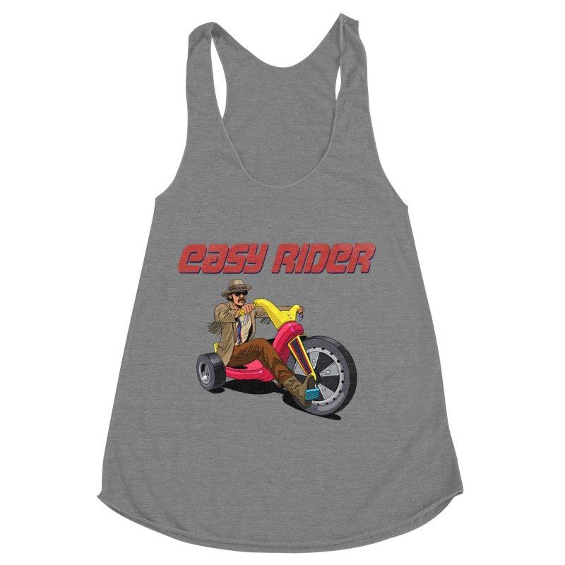 Easy Rider Women's Racerback Triblend Tank by steveash's Artist Shop