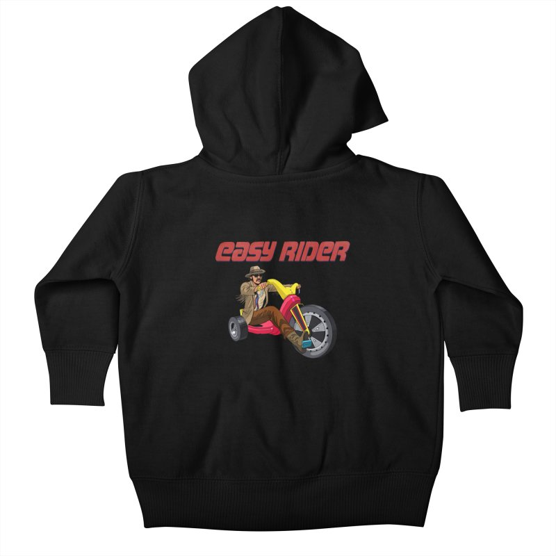 Easy Rider Kids Baby Zip-Up Hoody by steveash's Artist Shop
