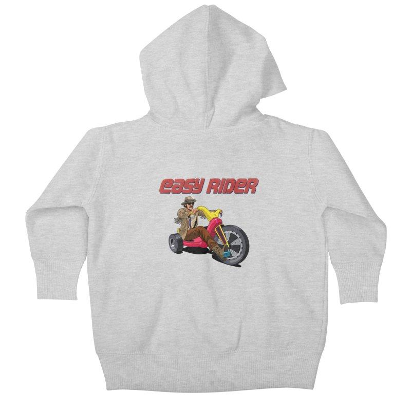 Easy Rider Kids Baby Zip-Up Hoody by steveash's Artist Shop