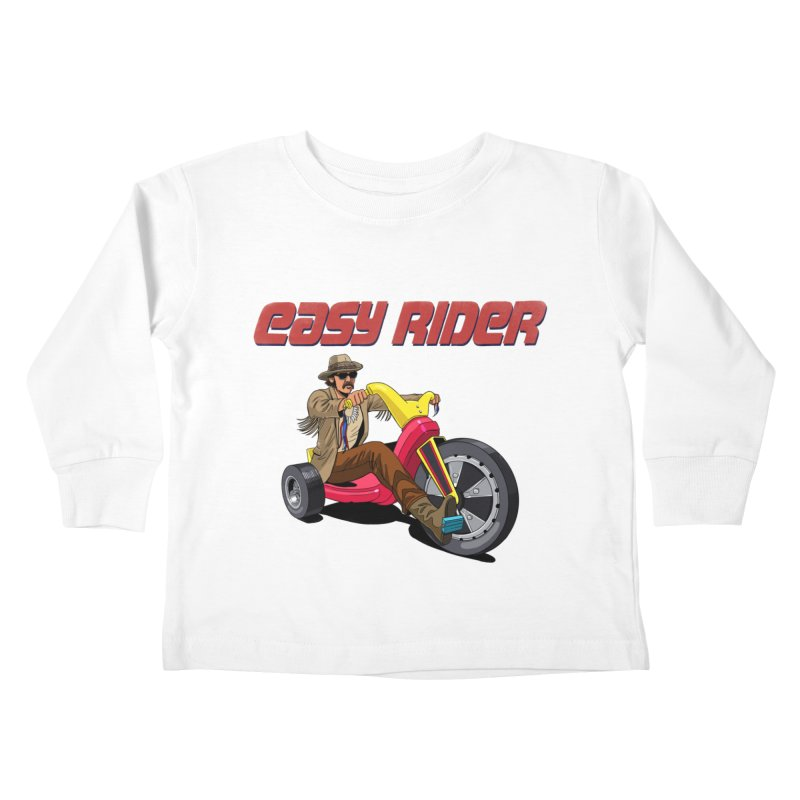 Easy Rider Kids Toddler Longsleeve T-Shirt by steveash's Artist Shop