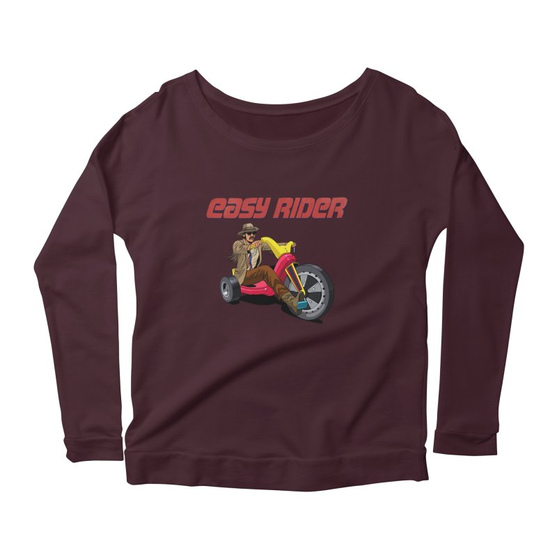 Easy Rider Women's Scoop Neck Longsleeve T-Shirt by steveash's Artist Shop
