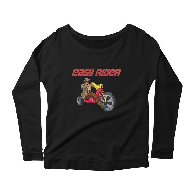 Easy Rider Women's Scoop Neck Longsleeve T-Shirt by steveash's Artist Shop