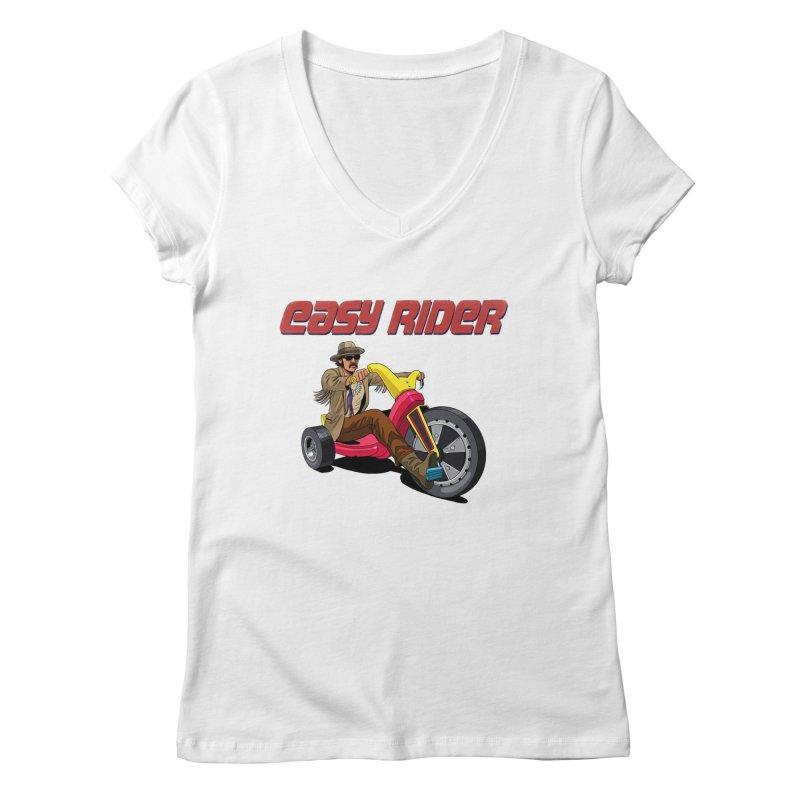 Easy Rider Women's Regular V-Neck by steveash's Artist Shop