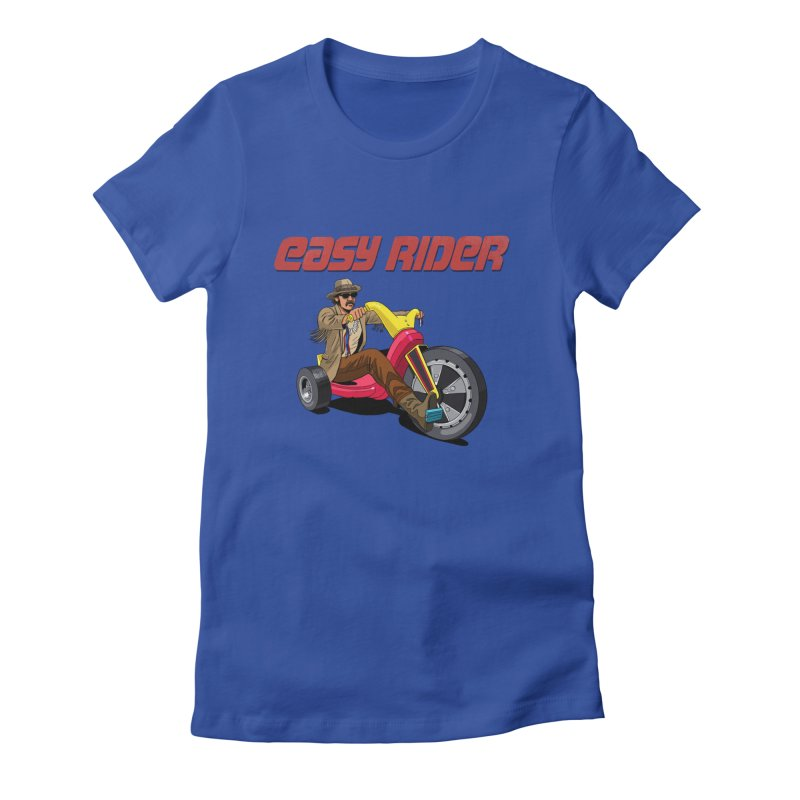 Easy Rider Women's Fitted T-Shirt by steveash's Artist Shop
