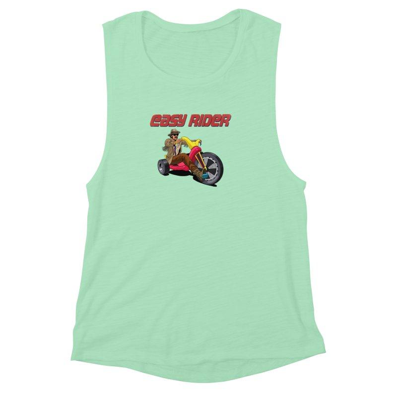 Easy Rider Women's Muscle Tank by steveash's Artist Shop