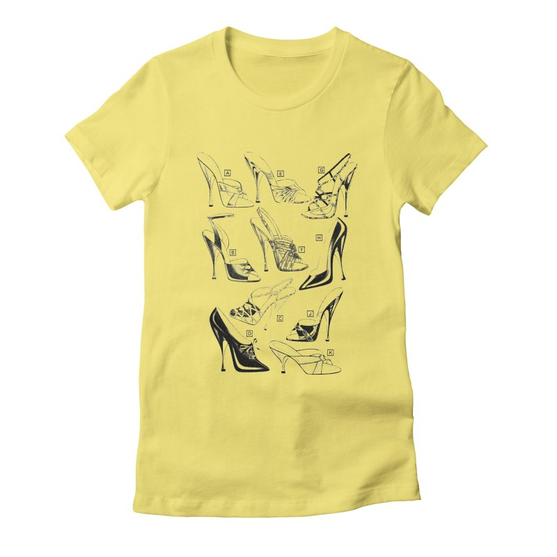 Freddy Heels Women's Fitted T-Shirt by Steve Diet Goedde's Artist Shop