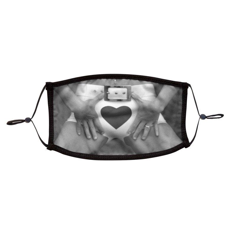 Heart Crotch Accessories Face Mask by Steve Diet Goedde's Artist Shop
