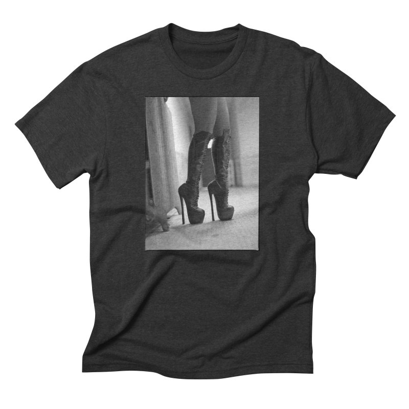 SDG Heels Series - Midori in Men's Triblend T-shirt Heather Onyx by stevedietgoedde's Artist Shop