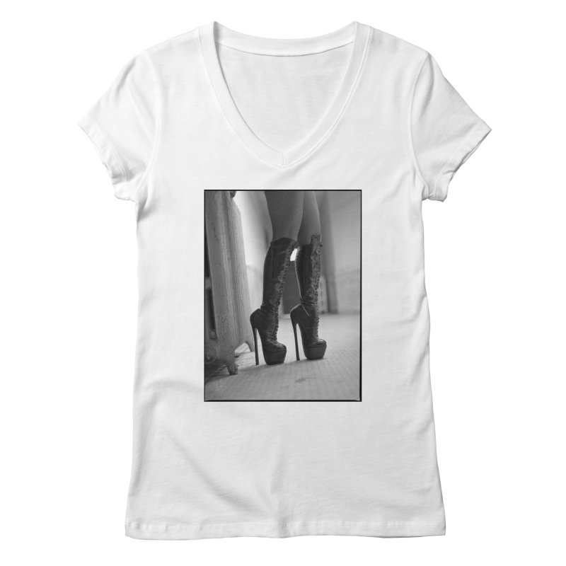 SDG Heels Series - Midori Women's Regular V-Neck by Steve Diet Goedde's Artist Shop