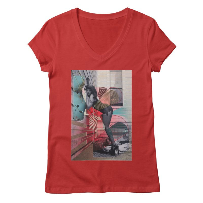 Goedde & Couwenberg - Tuula Women's Regular V-Neck by stevedietgoedde's Artist Shop