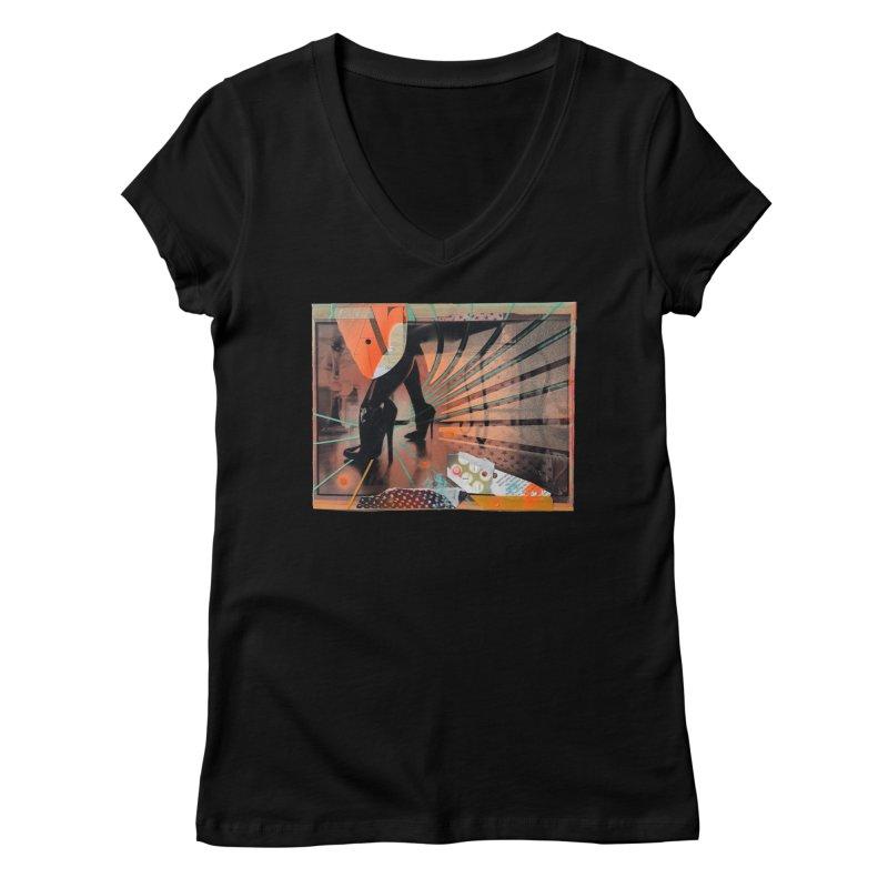 Goedde & Couwenberg - Christine Adams Women's V-Neck by Steve Diet Goedde's Artist Shop