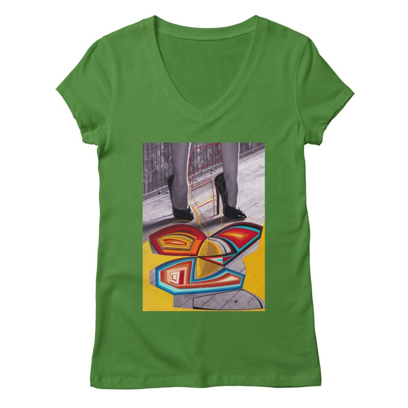 Goedde & Cowenberg - Mika Lovely Women's V-Neck by stevedietgoedde's Artist Shop