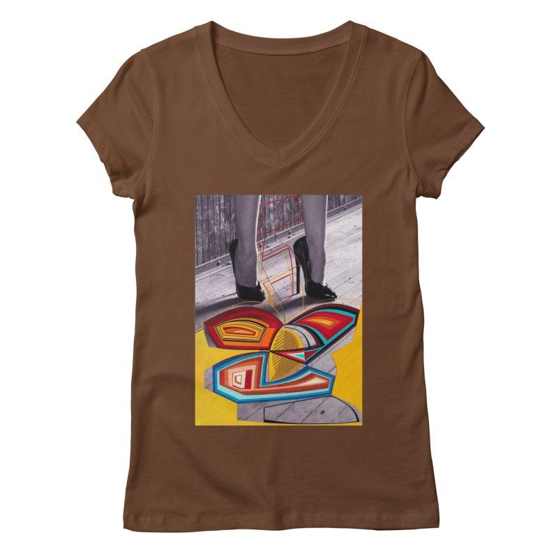 Goedde & Cowenberg - Mika Lovely Women's Regular V-Neck by Steve Diet Goedde's Artist Shop