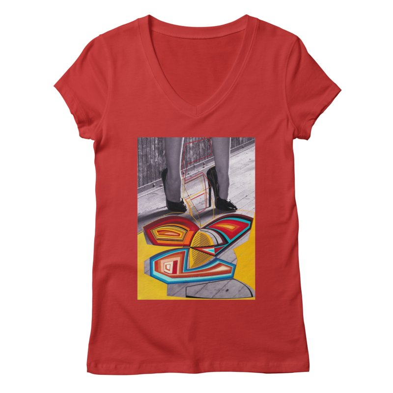 Goedde & Cowenberg - Mika Lovely Women's Regular V-Neck by Steve Diet Goedde's Artist Shop