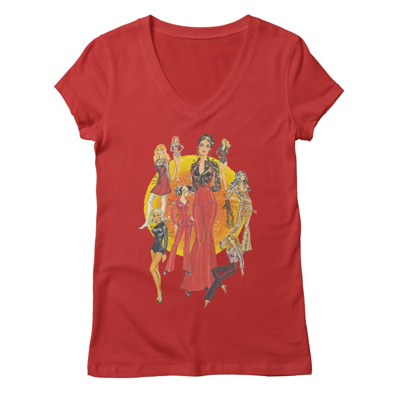 Groovy Women's V-Neck by stevedietgoedde's Artist Shop