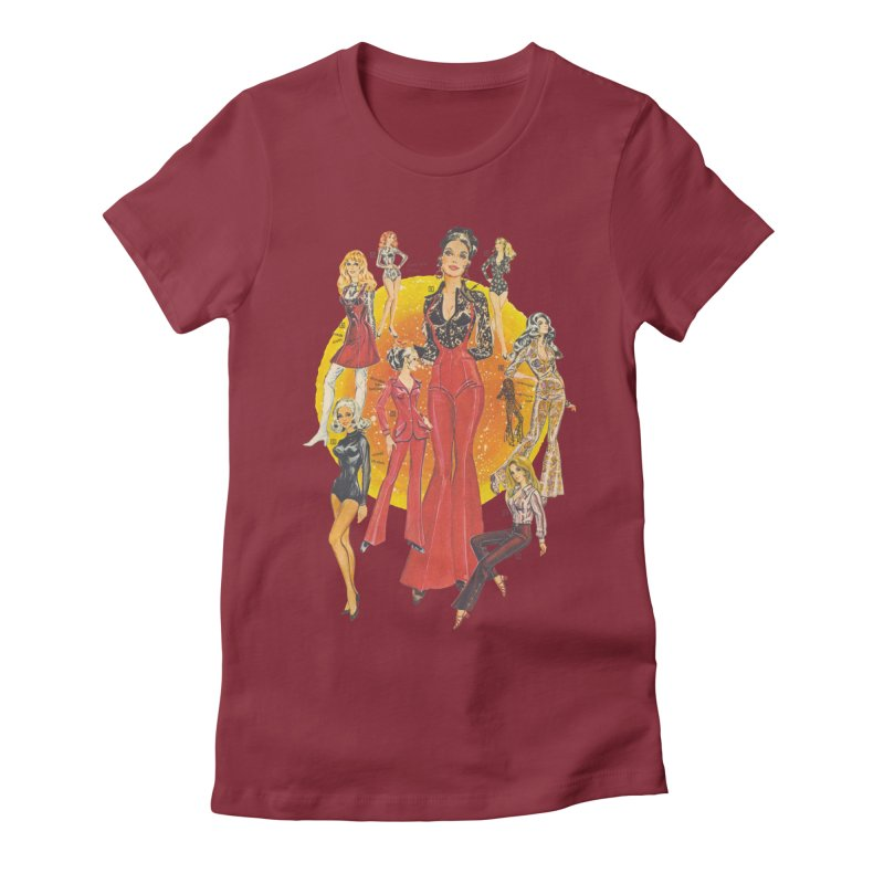 Groovy Women's Fitted T-Shirt by stevedietgoedde's Artist Shop