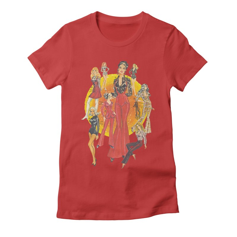 Groovy Women's Fitted T-Shirt by stevedietgoedde's Artist Shop
