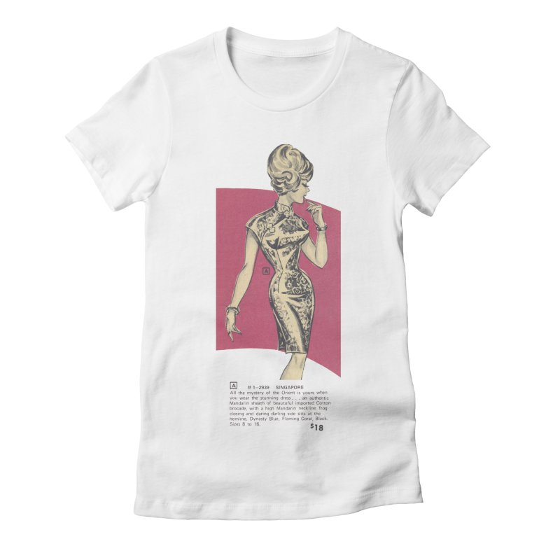 Singapore Women's Fitted T-Shirt by Steve Diet Goedde's Artist Shop