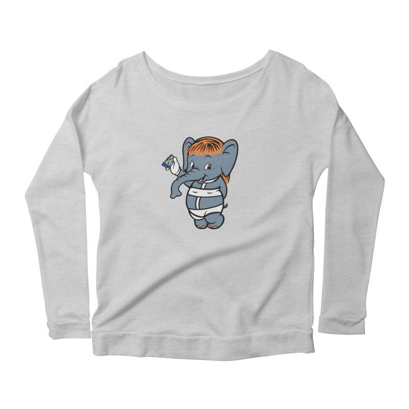 The Fifth Elephant Women's Scoop Neck Longsleeve T-Shirt by Steve Dressler Illustration & Design