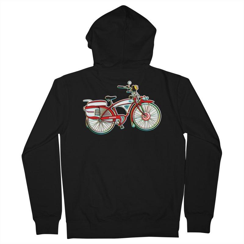 Stolen Bicycle Men's French Terry Zip-Up Hoody by Steve Dressler Illustration & Design