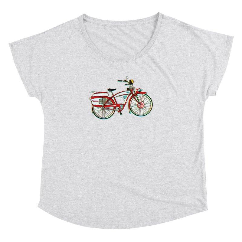 Stolen Bicycle Women's Dolman Scoop Neck by Steve Dressler Illustration & Design