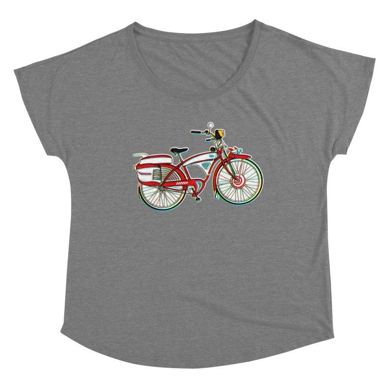 Stolen Bicycle Women's Scoop Neck by Steve Dressler Illustration & Design