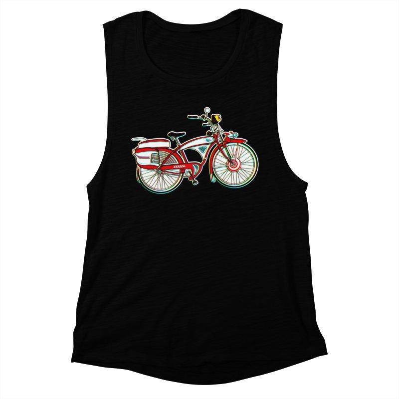 Stolen Bicycle Women's Muscle Tank by Steve Dressler Illustration & Design