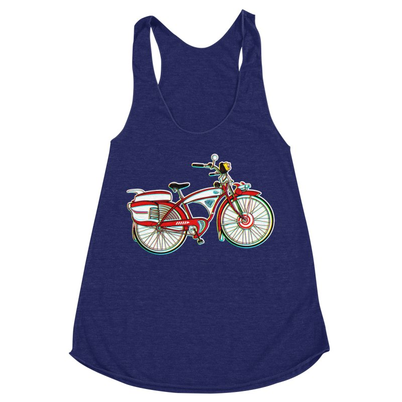 Stolen Bicycle Women's Racerback Triblend Tank by Steve Dressler Illustration & Design