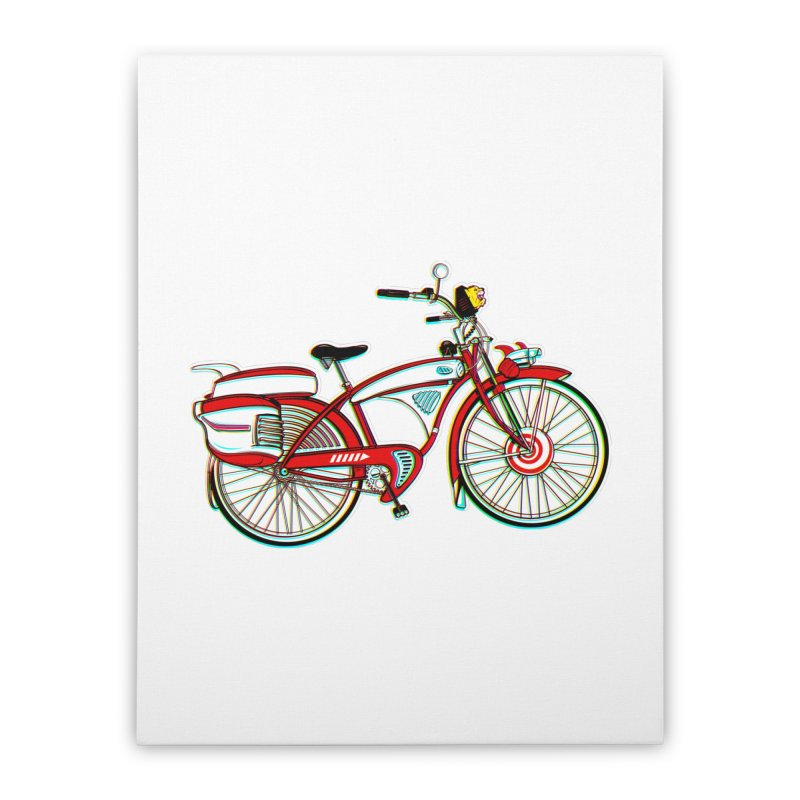 Stolen Bicycle Home Stretched Canvas by Steve Dressler Illustration & Design