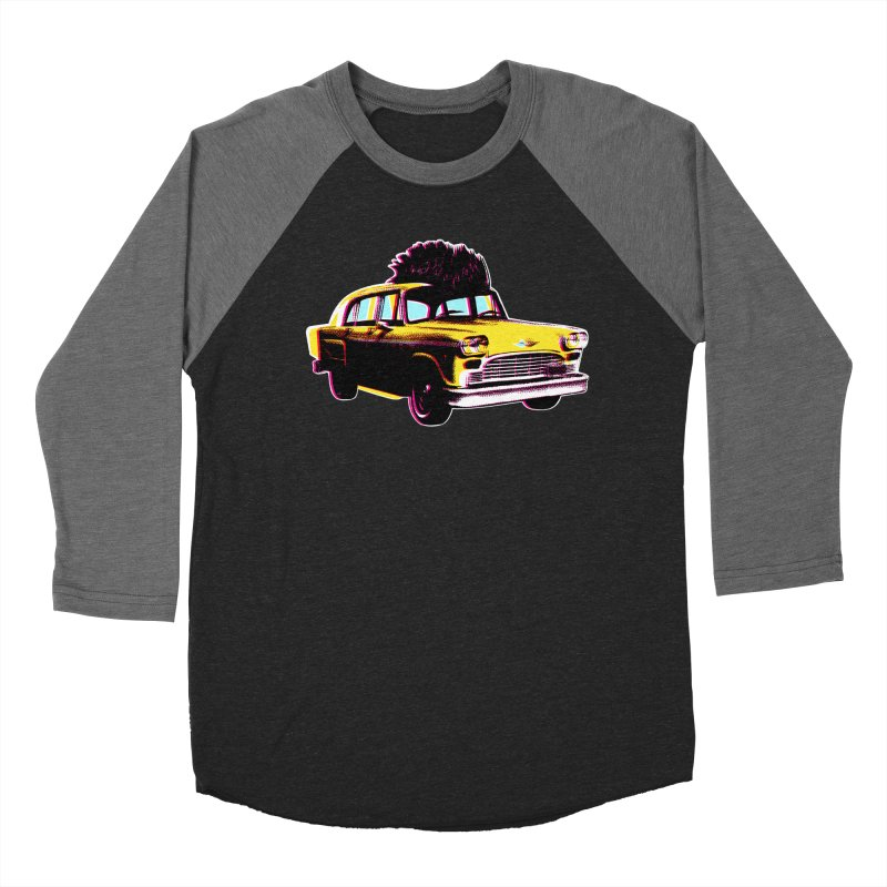 Cab Driver Men's Baseball Triblend Longsleeve T-Shirt by Steve Dressler Illustration & Design