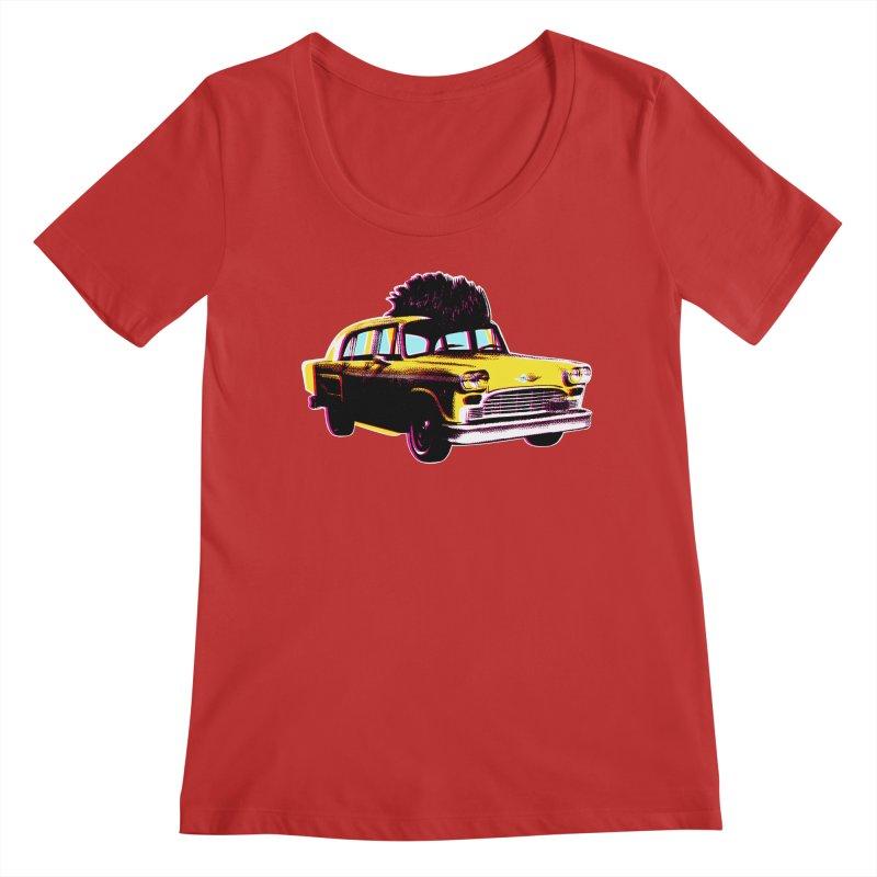Cab Driver Women's Regular Scoop Neck by Steve Dressler Illustration & Design