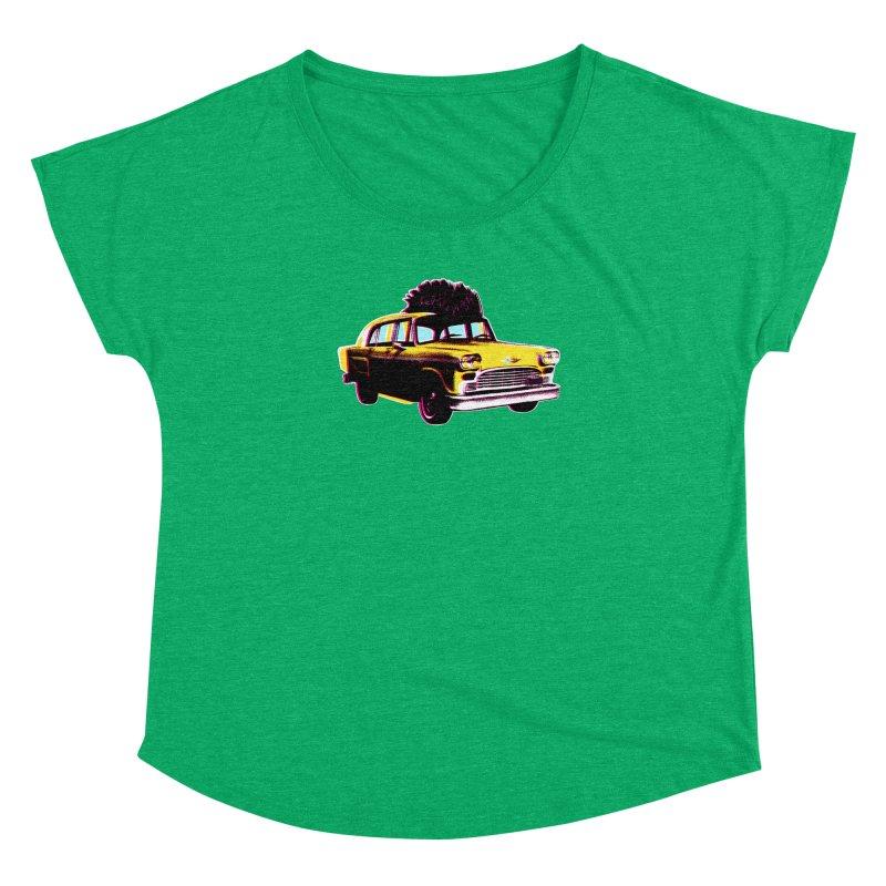 Cab Driver Women's Dolman Scoop Neck by Steve Dressler Illustration & Design
